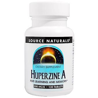 Fuente Naturals, Huperzine A, 200 mcg, 120 Tabletas