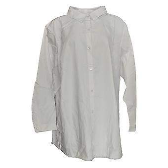 Joan Rivers Femmes-apos;s Haut Chemisier à manches longues superposés Blanc A304117