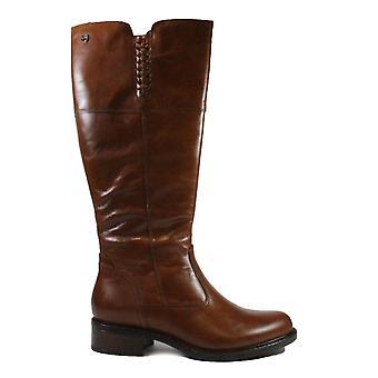 Tamaris 25565 Brown Leather Womens Long Leg Boots