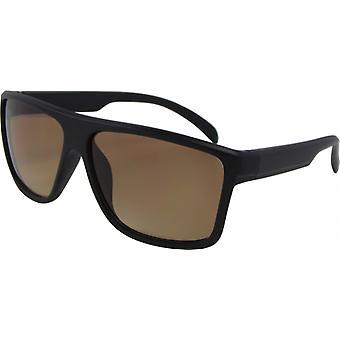 Sunglasses Unisex Wayfarer Kat. 3 matt black/brown (AZ-164D)