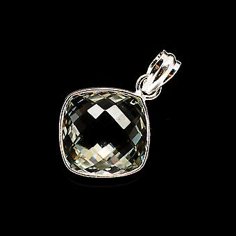 Faceted Green Amethyst Pendant 1 1/4