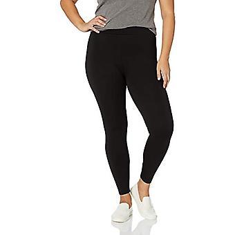 Marca - Daily Ritual Women's Plus Size Ponte Knit Legging, Negro, 6X Regular