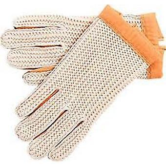 Östra grevskapen läder Mens virka körning handskar