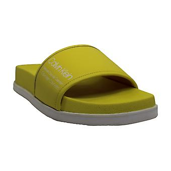 Calvin Klein Women's Shoes Maree Leather Open Toe Casual Slide Sandals