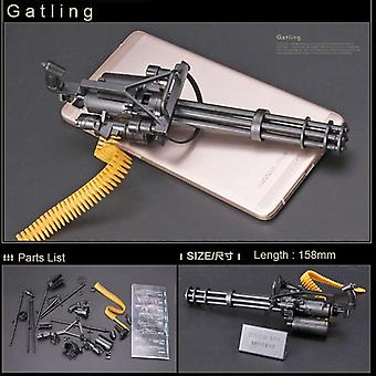 Action Figures M134 Gatling Minigun Exterminador Armas pesadas do Exterminador + Brinquedo de Bala