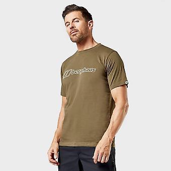 Berghaus Men's Big Outline Logo Short Sleeve Tee Green