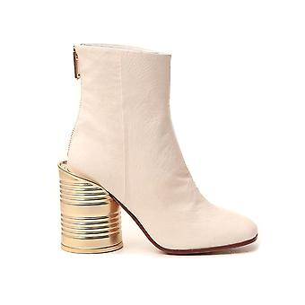 Mm6 Maison Margiela S66wu0014p2721t1003 Femmes's Beige Leather Ankle Boots