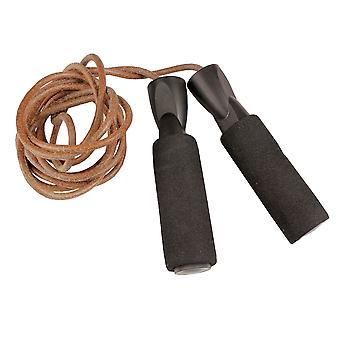 Fitness Mad Leather Weighted Skipping Rope For Boxing, MMA and Kickboxing