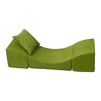 Enfant inclinable meubles de chaise mousse vert