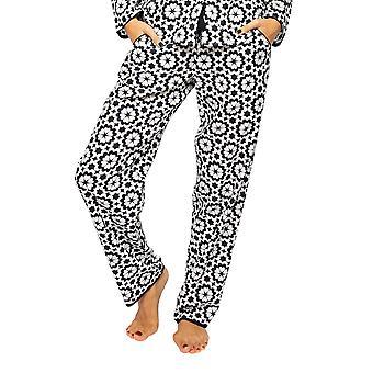 Cyberjammies Mohn 4595 Frauen's schwarz & weiß Fliesen Druck Pyjama Hose