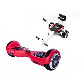 Volledig pakket Hoverboard 6,5 inch Smart Balance™, reguliere Rode Skate Flash,, Led + Hoverseat met Sponge