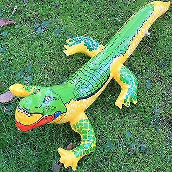 Cocodrilo inflable soplar agua - cocodrilo juguete globo de cocodrilo para el verano