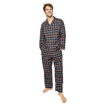 Cyberjammies Arthur 6523 Männer's Blue Mix Check Pyjama Hose