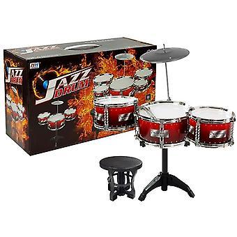 Grote set rode drums voor kinderen