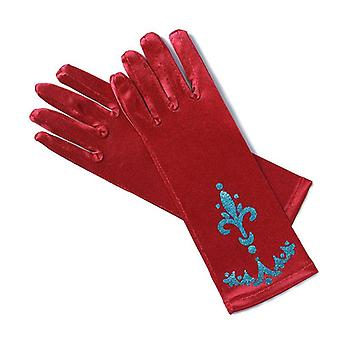 Muababy Girl Elsa Coronation Gloves- 6 Colors Brocade Long Finger Mitten 24cm Sequins Printed Clothing Children Party Costume