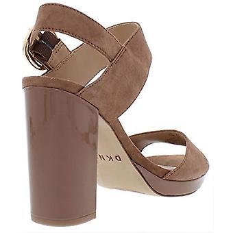 DKNY naisten Bell slingback nahka auki toe erityinen tilaisuus nilkka hihna hiekan...