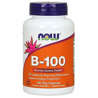 الآن الأطعمة فيتامين B-100، 100 قبعات