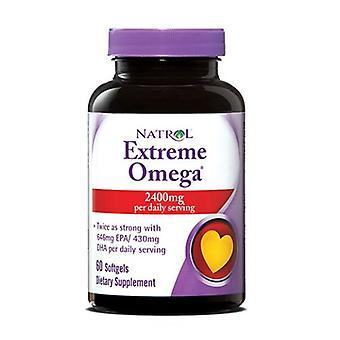 Natrol Extreme Omega Fish Oil, 60 Softgels