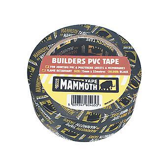 Everbuild Builder's PVC Tape Black 50mm x 33m EVB2BTBK50