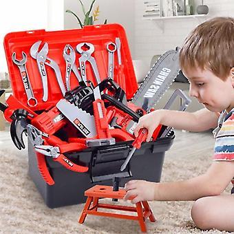 Children's Toolbox مهندس إصلاح أدوات لعبة مع الحفر الكهربائية, مفك البراغي,