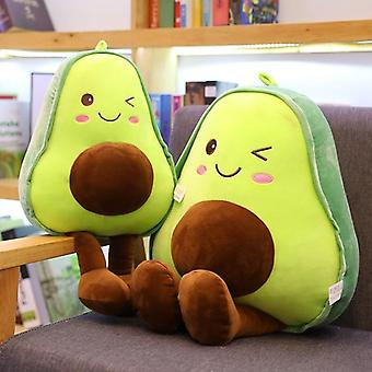 Schattige Avocado Kussen / kussen Kawaii Fruit Gevulde Pop-Throw Pillow