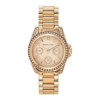 Michael Kors Mk5613 Mini Blair Chronograph Rose Gold Ladies Watch
