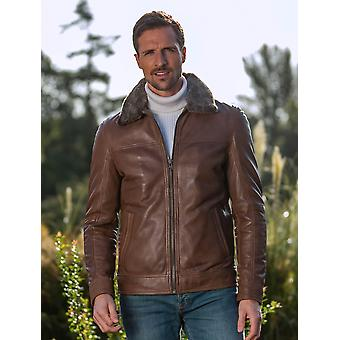 Millbeck Leather Jacket in Brown