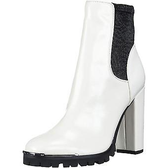 BCBGeneration Women's Shoes Leah Text Rodi Fabric Square Toe Ankle Fashion Bo...