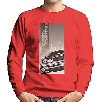 Fast and Furious Dodge Charger City Backdrop Men's Sweatshirt