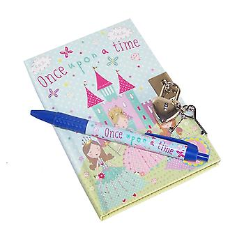 Princess glittrande låsbar hemliga dagbok notebook