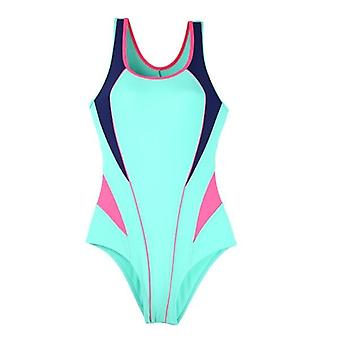 Children One Piece Sport Swimsuit- Swimwear Patchwork Bodysuit
