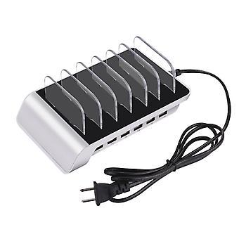 YM-UD06 5V 10.2A Lähtö Universal Desktop Irrotettava 6 porttia USB-latausasema Usean laitteen keskittimen lataustelakka, iPadille , tableteille, iPhonelle, Galaxylle,