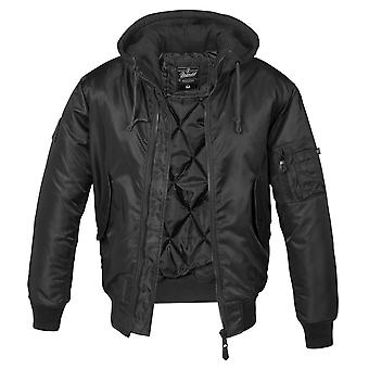 Brandit Men's Winter Jacket MA1 Sweat Hooded
