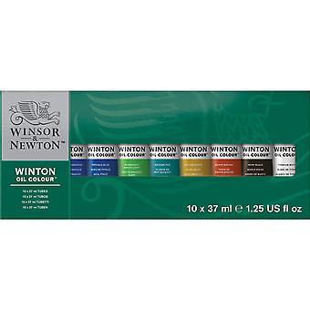 Winsor & newton winton oil colour paint starter set 10 x 37ml 10 x 37 ml