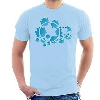 Sonic The Hedgehog Blue Symbols Men's T-Shirt