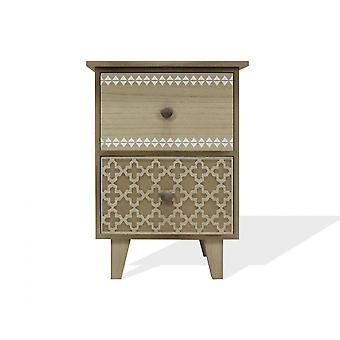 Rebecca Furniture Bedside Table Chest of Drawers 2 Drawers Wood Back Bedroom Bathroom 41x30x25