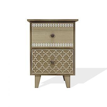 Rebecca Furniture Bedside Table Chest of Drawers 2 Gavetas Madeira Banheiro do Quarto 41x30x25