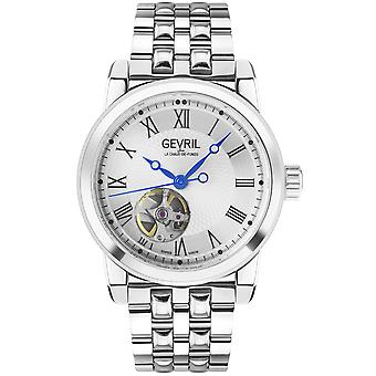 Gevril Men's Madison SS Silver Dial SS Band