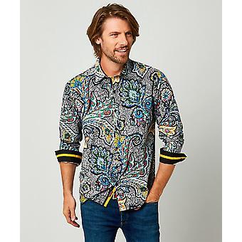 Joe Browns Mens Funky Paisley Print Skjorta i djärva färger