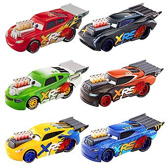 6-Pack Disney Pixar Cars XRS Drag Racing Cars Metal Diecast