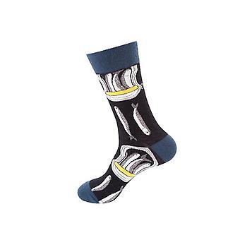 Funny Shark Puuvilla Onnellinen Taide Van Gogh Maailmankuulu maalaus sukat / miehet
