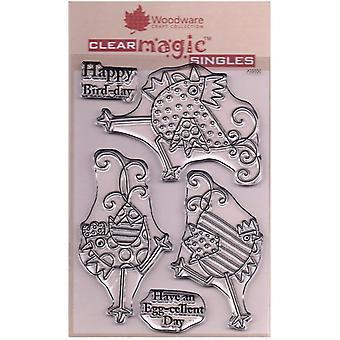 Woodware Clear Singles Tanssivat kanat 4 x 6 postimerkissä