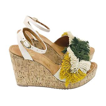 Espadrille Wedge Silvia Cobos Mambo Green Leaves