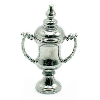 Dolls House Silver Trophy Cup With Lid Miniature 1:12 School Study Accessory