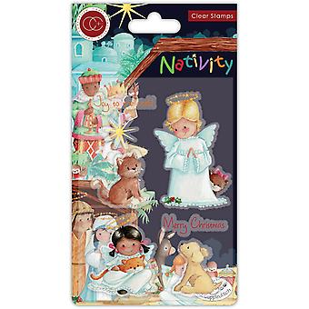 Craft Consortium Nativity Clear Stamps Angels