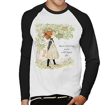 Holly Hobbie Natures Little Things Dark Text Men's Baseball Pitkähihainen T-paita