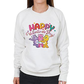 Pflege Bären entsperren die Magie glücklich Valentinstag Frauen's Sweatshirt