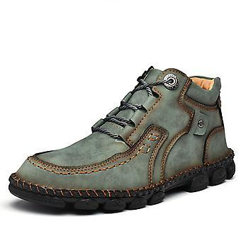 Zapatos de moda de cuero botas de hombre's 9936 Green