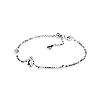 Pandora Sparkling Crown O Chain Bracelet 598276CZ 17 cm