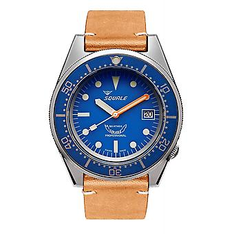 Squale 1521BLUEBL.PC 500 Meter Swiss Automatic Dive Wristwatch Leather